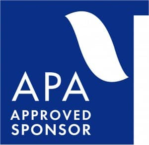 APA approved sponsor of continuing education